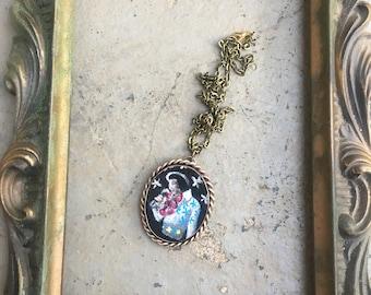 Velvet Elvis Pendant Necklace 1