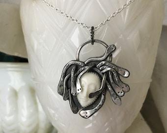 Medusa Pendant Necklace