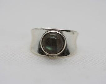 Labradorite chunky band ring