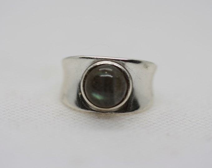Labradorite chunky band ring