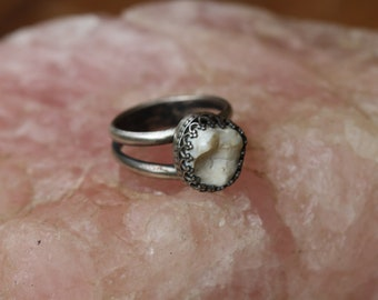 Single Tooth Ornate Ring (Made in your size)