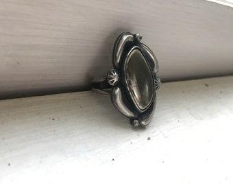 Pyrite Repoussé frame ring