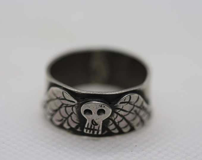 Death's Head Band Ring Made-to-Order