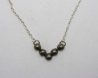 Marked down! Pyrite Chevron cluster necklace