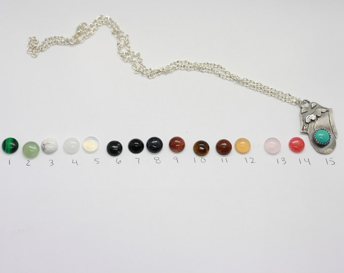 Rolling Stones Pendant necklace Choose your own stone