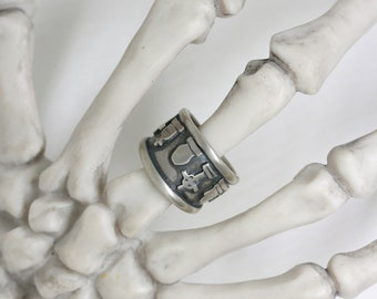 Cemetery Band ring size 7.5