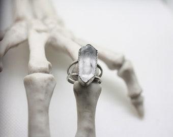 Raw Quartz Crystal Ring