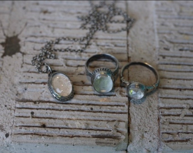 Custom Mourning Ring or Pendant holding ashes