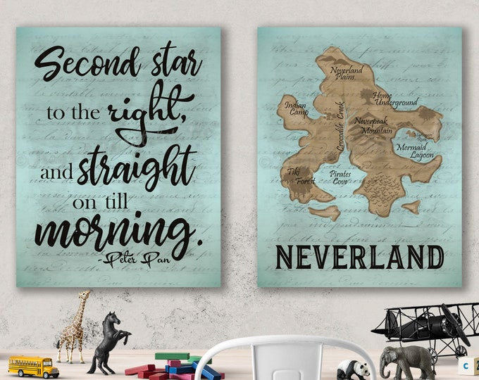 Neverland Peter Pan Canvas Wall Art Set