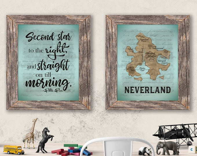 Neverland Peter Pan Paper Prints Set