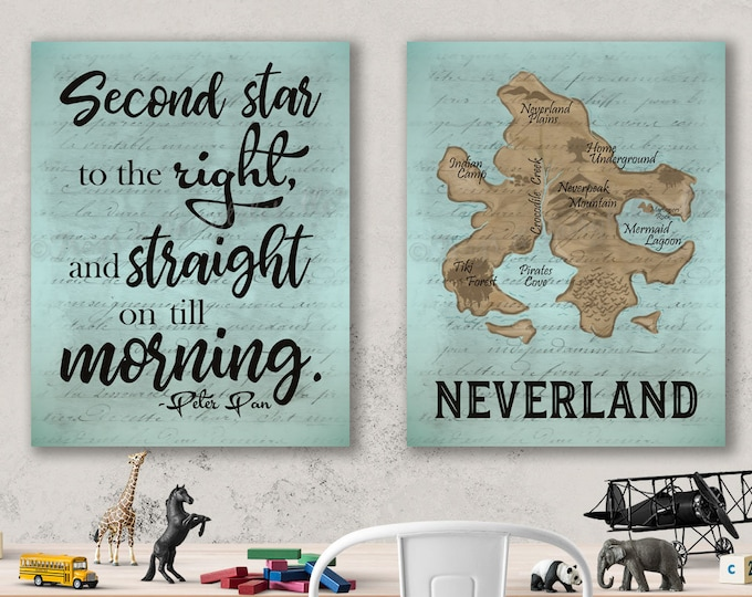 Neverland Peter Pan Canvas Print Set