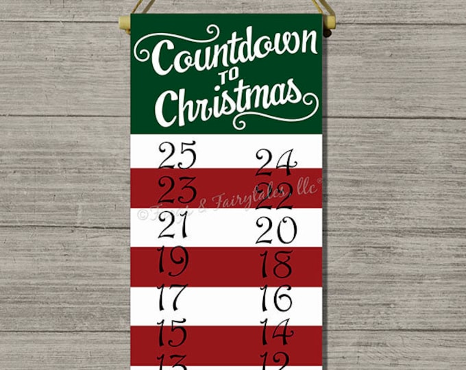 Countdown To Christmas Hanging Canvas Print