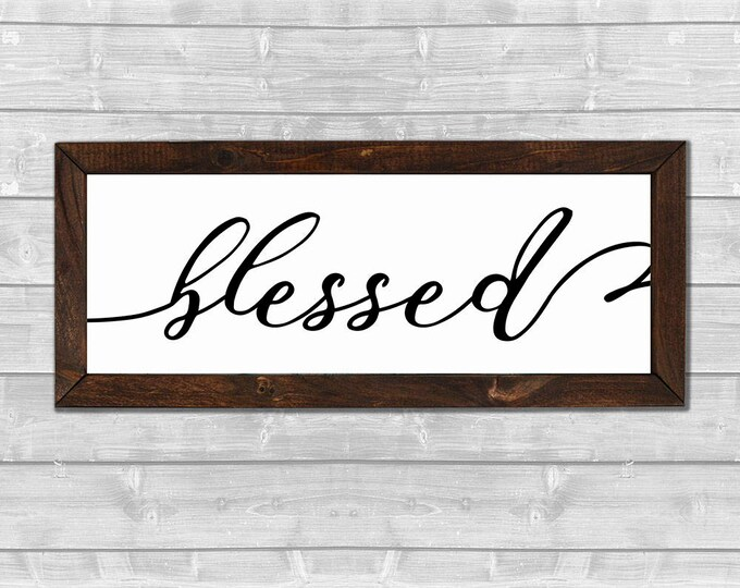 Blessed Wooden Framed Canvas Print