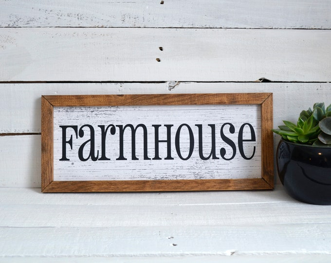 Farmhouse Wooden Framed Canvas Print