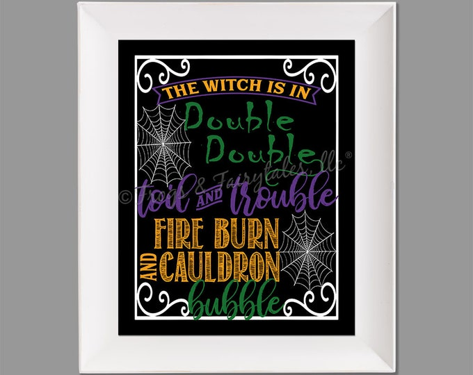 Double Double Toil and Trouble Photo Paper Print Wall Art, Free Shipping