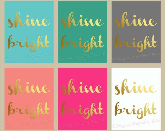 Shine Bright Gold Canvas Wall Art Custom Print