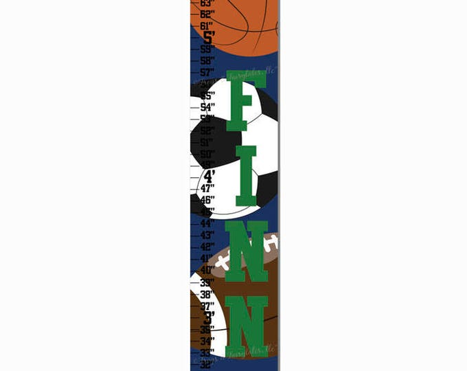 Sports Navy Growth Chart Height Chart Ruler