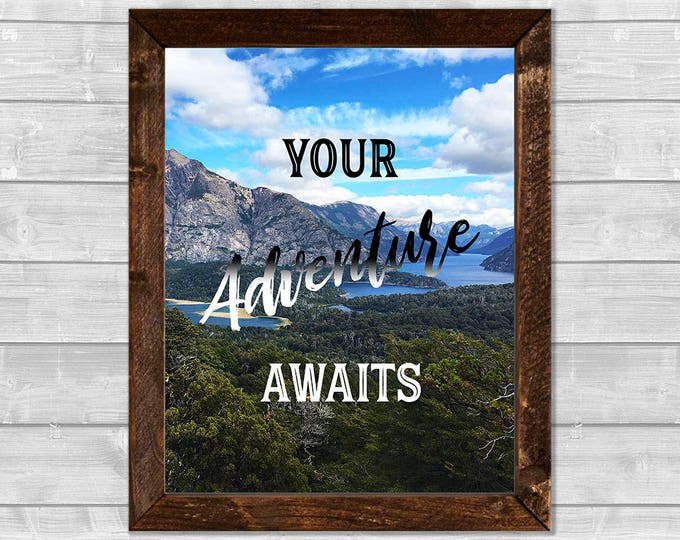 Your Adventure Awaits Canvas Framed Print