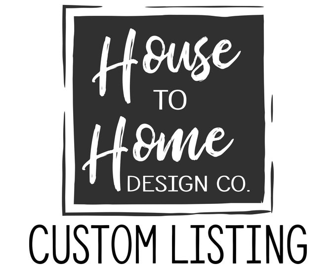 Custom Listing for M Ceja