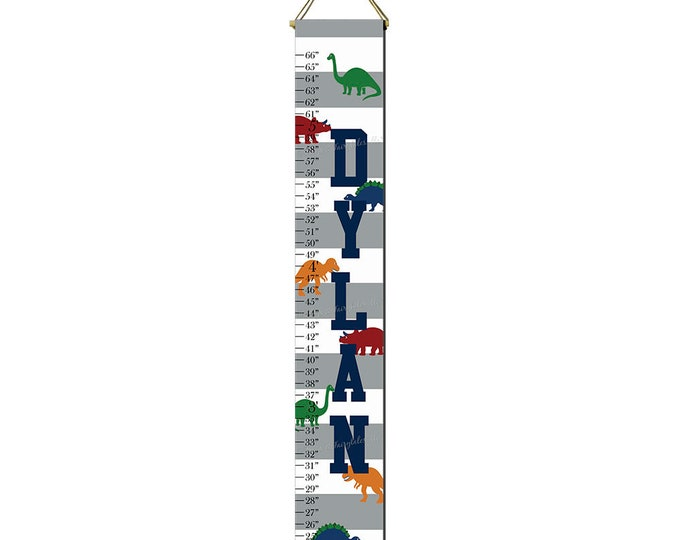 Dinosaur Growth Chart Height Chart Ruler