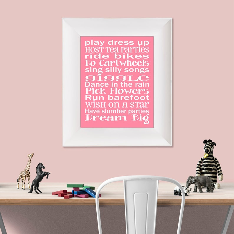 Play Dress Up Dream Big Pink and White Typography Digital image 0