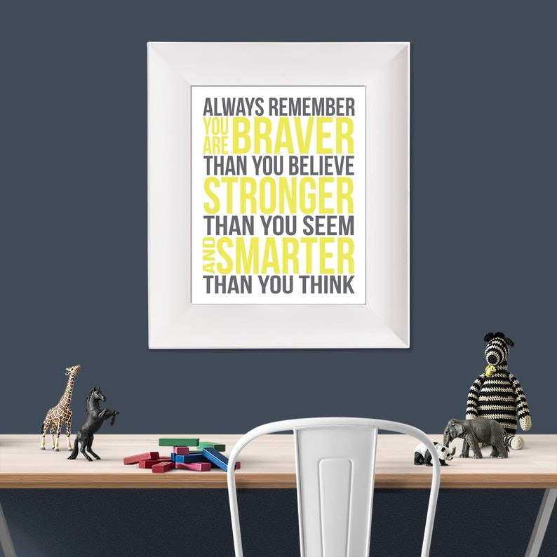 Always Remember Christopher Robin Quote Yellow and Grey image 0