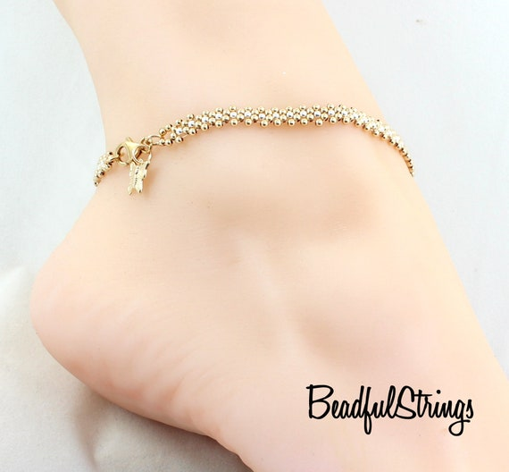 Peace Bracelet Gold Ankle Bracelet Foot Jewelry Wedding jewelry Ankle Bracelet Gold Bracelet jewelry bracelet Delicate bracelet