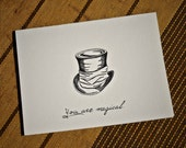 5-Notecard Set: Magic Hat...