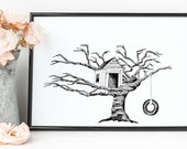 "Treehouse Print | 8""..."