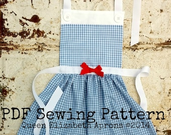 DOROTHY Wizard of OZ Child Halloween Costume Apron Pdf Sewing PATTERN. Girls sizes 2-8 Play Birthday Party Dress up Yellow brick road Lion