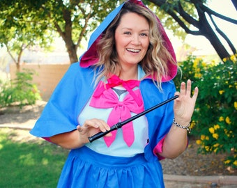 FAIRY GODMOTHER Cinderella Disney Princess inspired PLUS size Costume Apron Birthday Party. Teen/ Adult Women sz 12-22 Halloween xl 2x Bow
