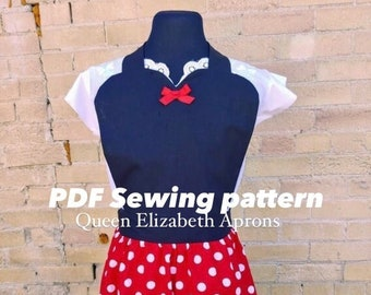 MINNIE MOUSE Cartoon Halloween Costume Apron Pdf Sewing PATTERN Plus size 12-22 Women Birthday Party Cosplay Outfit Dress up Mickey Play