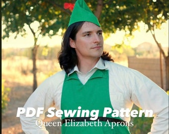PETER PAN Pirate Neverland Halloween Costume Apron and Hat Pdf Sewing PATTERN. Men/ Women s-xl Cosplay Outfit Birthday Party Dress up Unisex