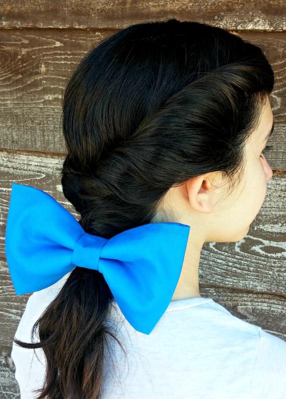 Disney princess belle robe cheveux Bow Hairband Bandeau Cravate Bande Clip Sac De Fête
