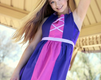 RAPUNZEL Princess of TANGLED Disney inspired costume APRON. Fits Teen/ Adult Women size 0-12. Mommy Dress up Birthday Party Gift Photo Prop