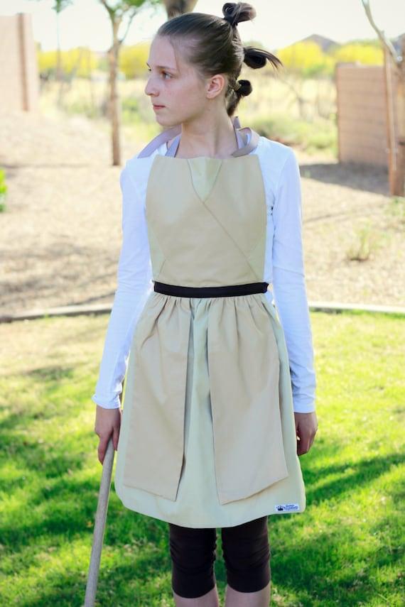 STAR WARS JEDI Rey Luke Skywalker Obi Wan Kenobi Disney inspired Costume Apron Fits Teen Adult Women sizes 0-12 Disneyland Birthday Party