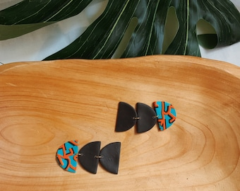 Abstract Polymer Clay Earrings  // Statement Jewelry