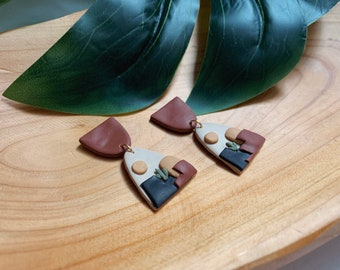 Cactus Desert Polymer Clay Earrings  // Statement Jewelry