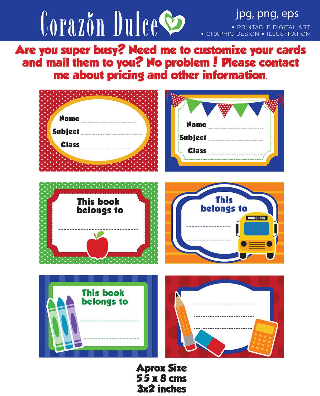 Volver a la escuela etiquetas imprimibles escuela etiquetas | Etsy
