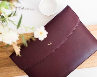 Leather laptop sleeve 13 inch MacBook Pro Retina - Leather laptop case - Personalized laptop sleeve - MacBook Pro case leather - 13 inch