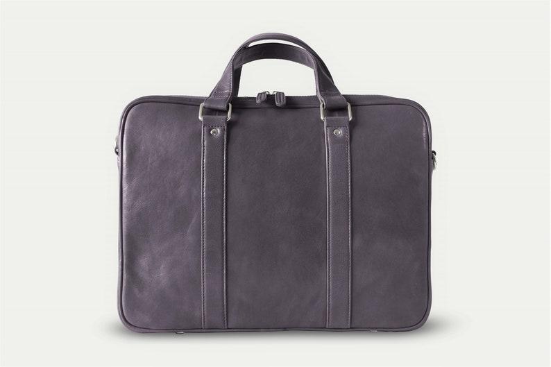 256eebac746fd Gray leather messenger Mens messenger bag Messenger