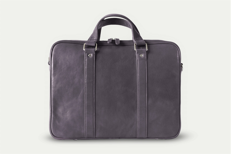 212726c5c71f Gray leather messenger - Mens messenger bag - Messenger briefcase - Laptop  briefcase - Slim briefcase men - Leather laptop bag - 15 inch