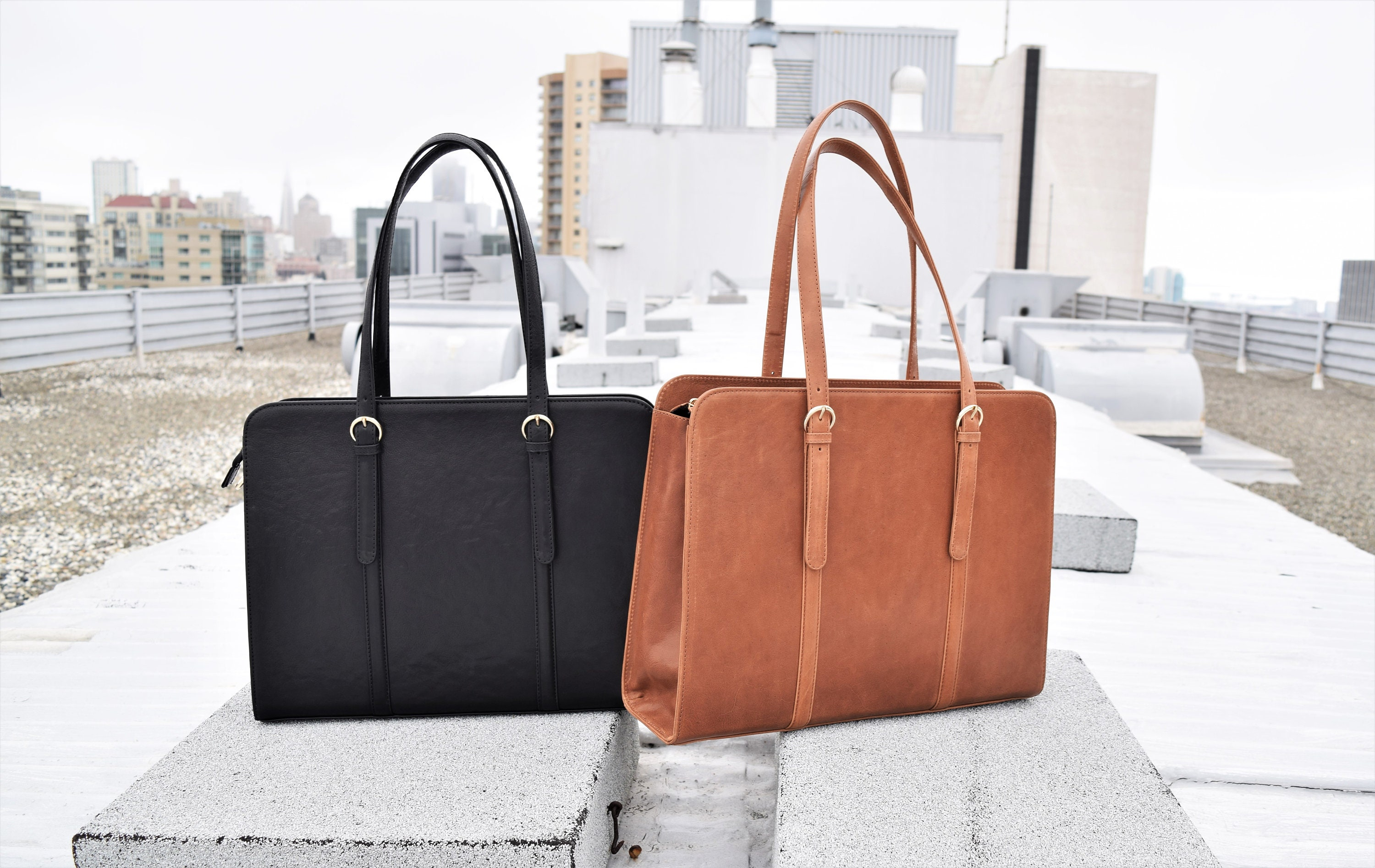 Leather briefcase women - Leather laptop