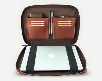 Leather MacBook Pro Sleeve - Brown leather MacBook Case - Leather Computer Case - Laptop Sleeve 13 inch - Leather Laptop Case 13 inch
