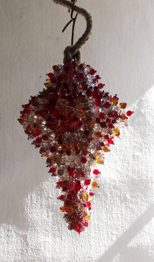 Lanterna di perle e cristalli
