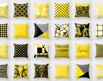 Yellow Throw Pillow Etsy