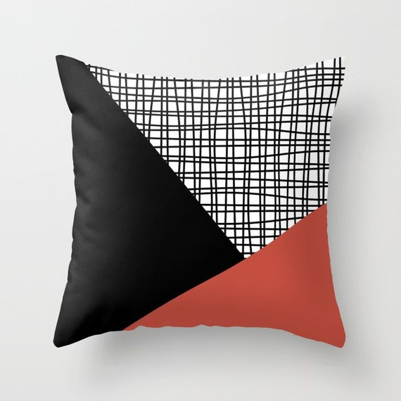 Prime Black White Terracotta Red Throw Pillow Mix And Match Indoor Outdoor Cushion Cover Accent Couch Toss Geometric Modern Bedding Living Room Theyellowbook Wood Chair Design Ideas Theyellowbookinfo