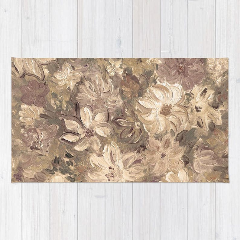 Pastel Floral Rug Area Rug Floor Rugs Modern Carpet Home Etsy