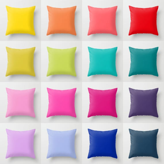 Solid Color Throw Pillow 16 Bright Color Options Indoor  a9022e77f201