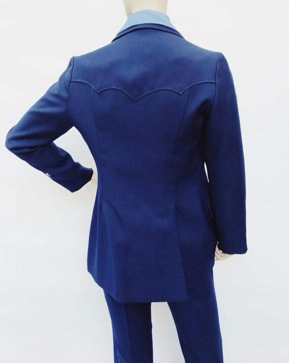 Vintage 60s H Bar C California Ranchwear navy blu… - image 7
